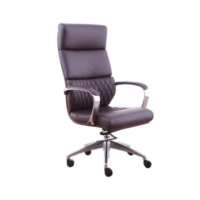 RFG Директорски стол GRANDE HB, екокожа, кафяв