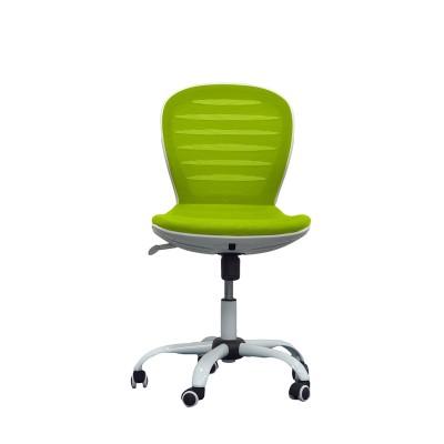 RFG Детски стол Flexy White, дамаска и меш, зелена седалка, зелена облегалка