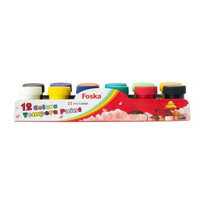Foska Темперни бои, в бурканчета, 22 ml, 12 цвята
