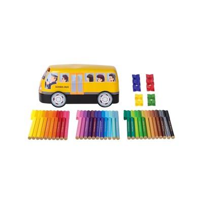 Faber-Castell Флумастери Connector, 33 цвята, в комплект с 10 клипса