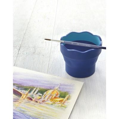 Faber-Castell Чаша за рисуване Click&Go, сгъваема, тъмносиня