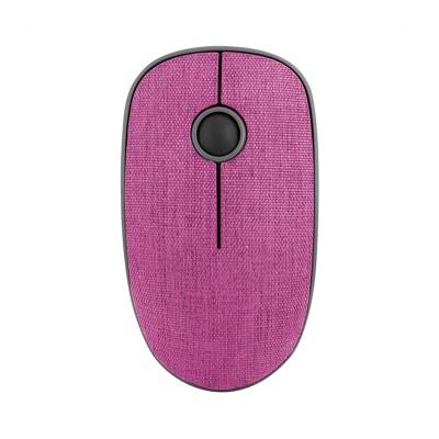 NGS Мишка Evo Denim, безжична, с текстилно покритие, розова