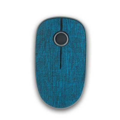 NGS Мишка Evo Denim, безжична, с текстилно покритие, синя
