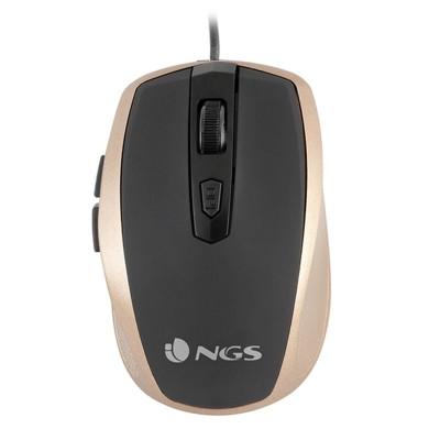 NGS Мишка Tick, с кабел, 6 бутона, цвят злато