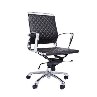 RFG Работен стол Ell W, екокожа, черна седалка, черна облегалка
