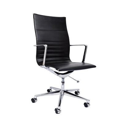 RFG Работен стол Haven W, екокожа, черна седалка, черна облегалка