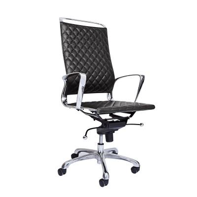 RFG Директорски стол Ell HB, екокожа, черна седалка, черна облегалка