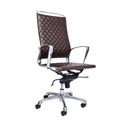 RFG Директорски стол Ell HB, екокожа, кафява седалка, кафява облегалка