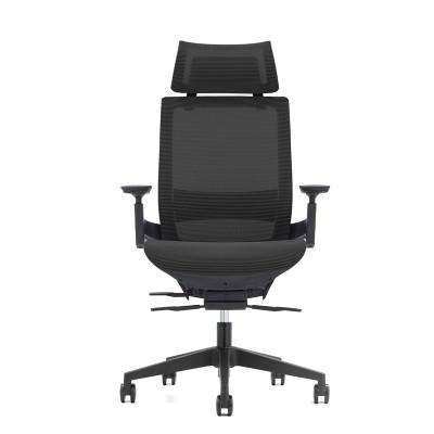 RFG Ергономичен стол Next HB, черна седалка, черна облегалка