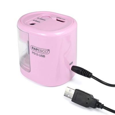 Rapesco Острилка PS12, електрическа, с USB, розова