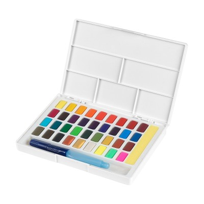 Faber-Castell Акварелни бои, в кутия - палитра, 36 цвята
