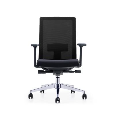 RFG Работен стол Alcanto W, дамаска и меш, черна седалка, черна облегалка