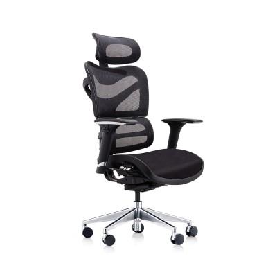 RFG Ергономичен стол TECH@GAMES, черна седалка, черна облегалка