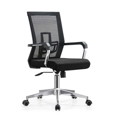 RFG Работен стол Luccas W, дамаска и меш, черна седалка, черна облегалка