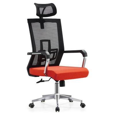 RFG Директорски стол Luccas HB, дамаска и меш, червена седалка, черна облегалка