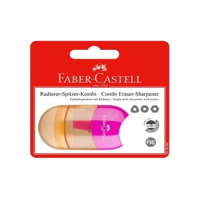 Faber-Castell Острилка Trend Combi, с гума, розова, в блистер