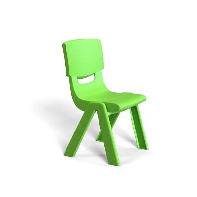 RFG Детски стол Chico, пластмасов, с облегалка, зелен, 41 х 35 х 62 cm