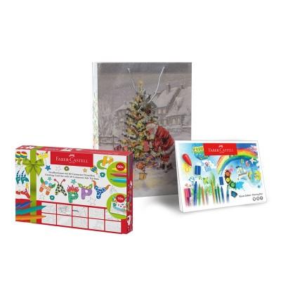 Faber-Castell Флумастери Connector, 60 цвята, скицник за рисуване, в комплект с подаръчна торбичка Еmma