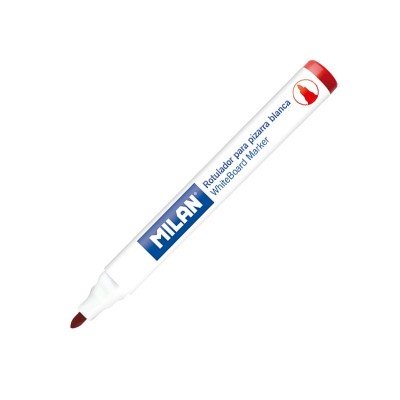Milan Борд маркер за бяла дъска, объл, червен