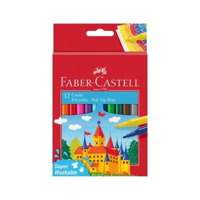 Faber-Castell Флумастери Замък, 12 цвята