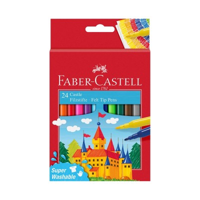 Faber-Castell Флумастери Замък, 24 цвята