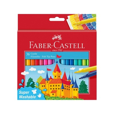 Faber-Castell Флумастери Замък, 36 цвята
