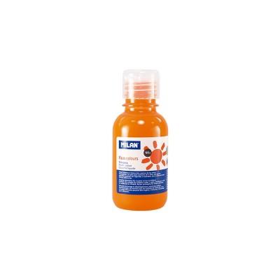 Milan Темперна боя Fluo, в бутилка, оранжева, 125 ml, 12 броя
