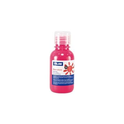Milan Темперна боя Fluo, в бутилка, розова, 125 ml, 12 броя