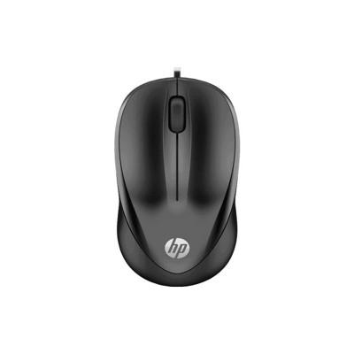 HP Мишка 1000 4QM14AA, с кабел, USB, черна