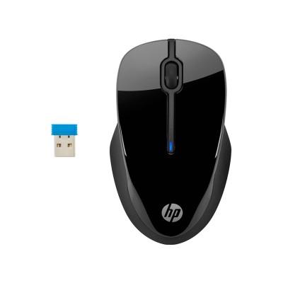HP Мишка 250 3FV67AA, ергономична, безжична, 2.7GHz, черна