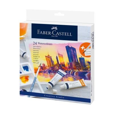 Faber-Castell Акварелни бои Creative Studio, 9 ml, 24 цвята