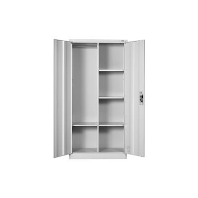 RFG Гардероб, метален, с 4 рафта, 90 х 45 х 185 cm, сив