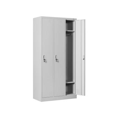 RFG Гардероб, метален, троен, 90 х 45 х 185 cm, сив