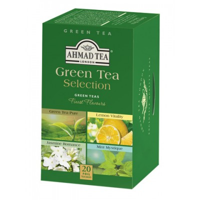 Ahmad зелен чай Green Tea Selection,  20 пакетчета