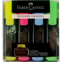 FABER-CASTELL ТЕКСТ МАРКЕР 4 ЦВЯТА
