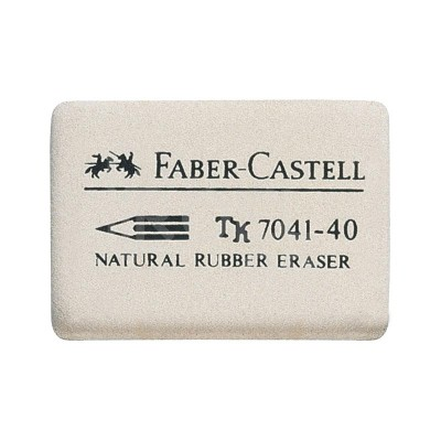 FABER-CASTELL ГУМА 7041-40 БЯЛА