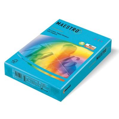 MAESTRO AQUA BLUE AB48 ЦВЕТЕН КАРТОН А4 ,160гр/м2, 250л.