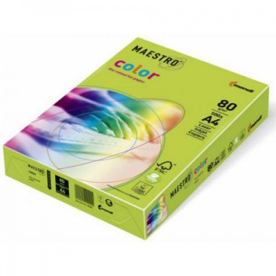 MAESTRO LIME GREEN LG46 ЦВЕТЕН КАРТОН А4 ,160гр/м2, 250л.