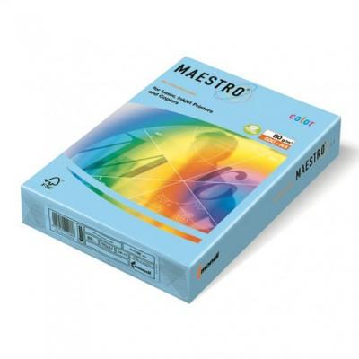 MAESTRO ICE BLUE OBL70 ЦВЕТЕН КАРТОН А4 ,160гр/м2, 250л.